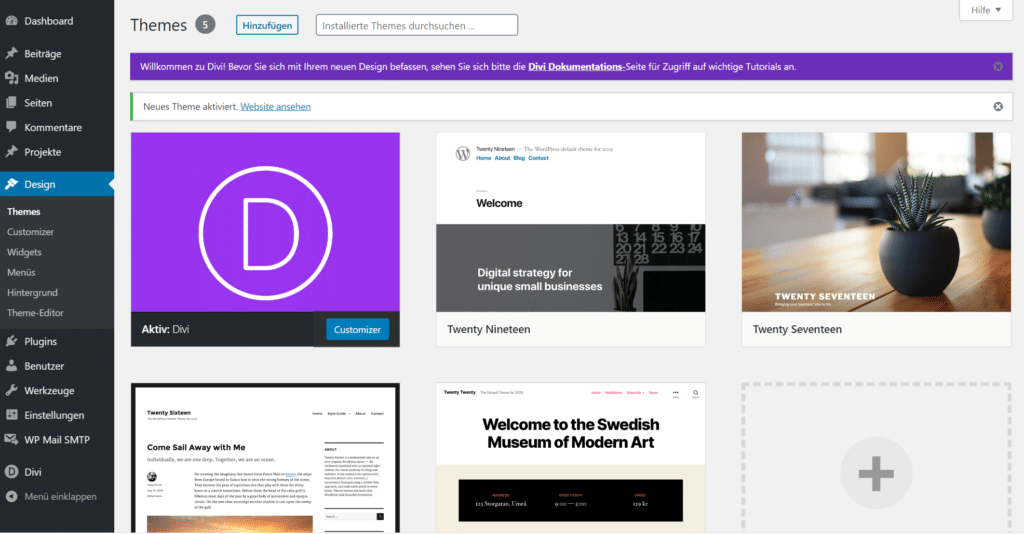 Blog Business WordPress Divi Theme