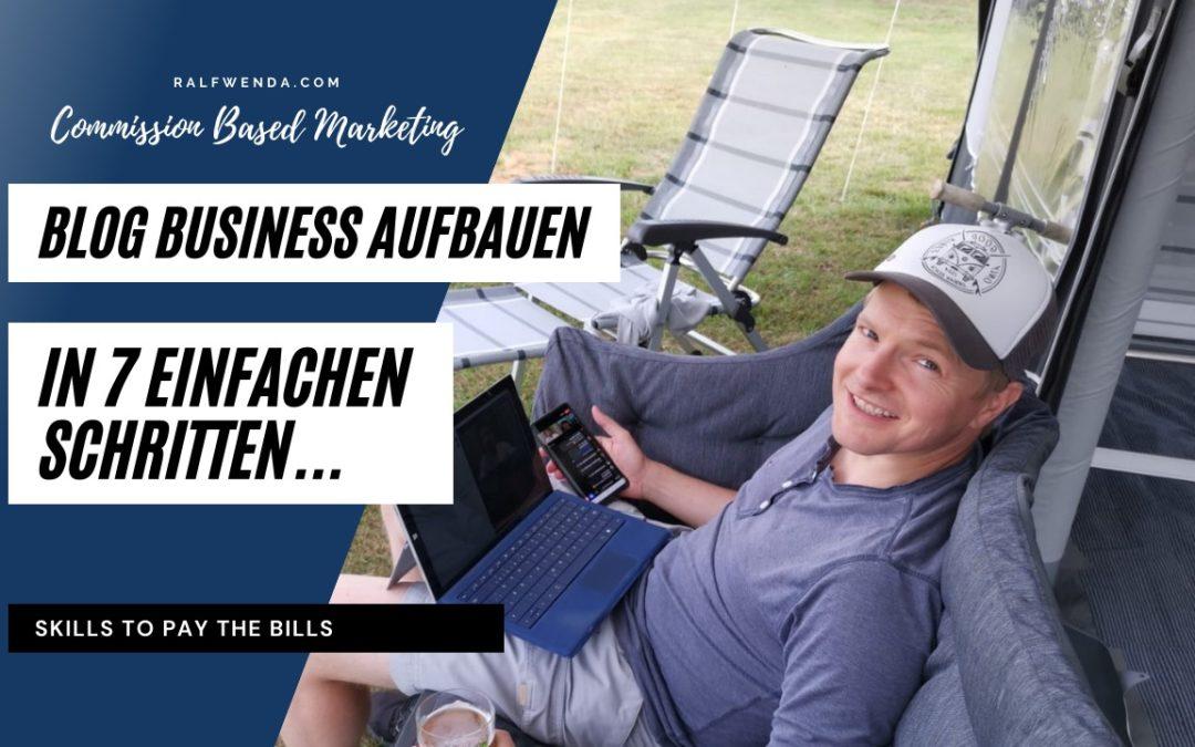 Blog Business aufbauen