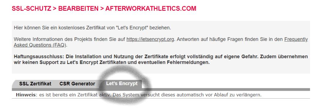 Allinkl Encrypt