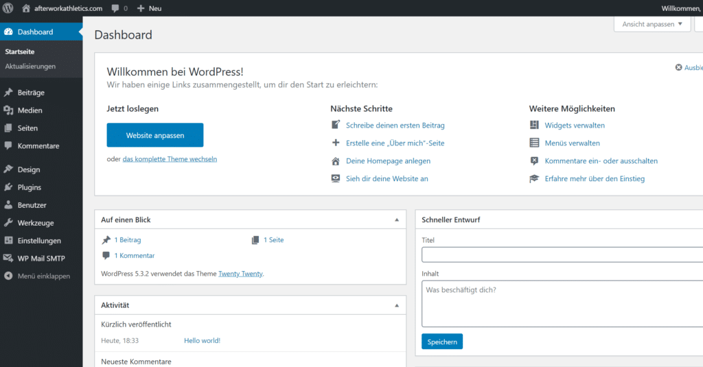 WordPress Backend