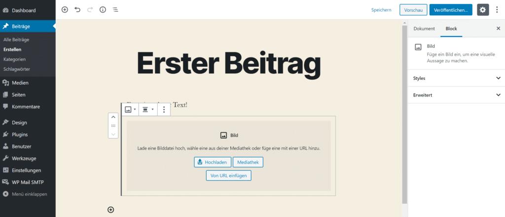 WordPress Beitrag anpassen