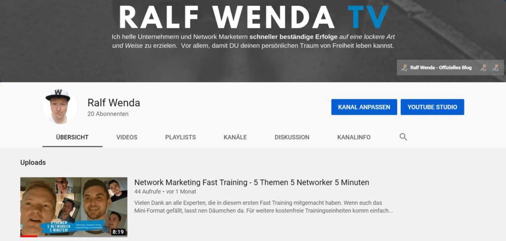 Ralf Wenda auf YouTube
